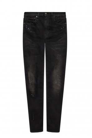 Paint-splattered jeans od R13