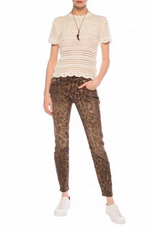 Leopard print jeans od R13