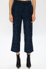 R13 Leopard-printed trousers