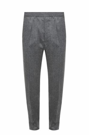 Side-stripe pleat-front trousers od Berluti