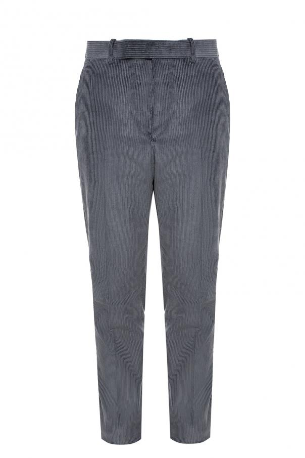 Pinstriped Creased Trousers by Berluti