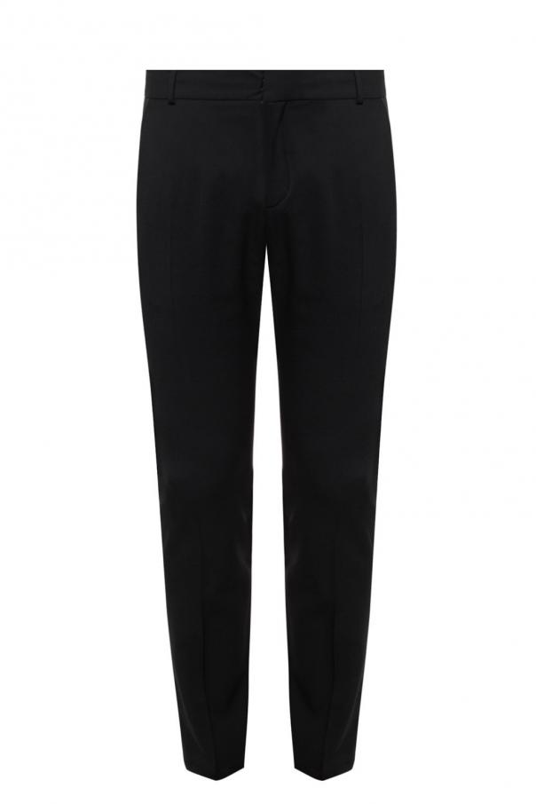 Creased trousers with side stripes od Balmain