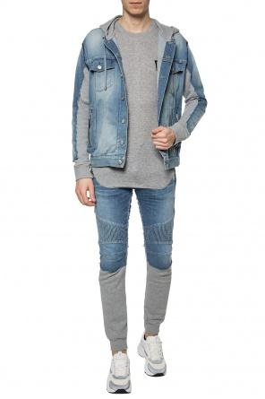 61e612a46833 Sweatpants with jeans effect od Balmain ...