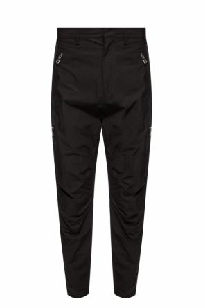 Trousers with a patch and logo od Balmain