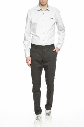 Side-stripe pleat-front trousers od Lanvin