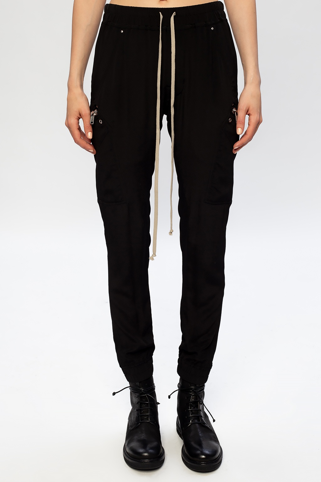 Rick Owens Trousers with several pockets