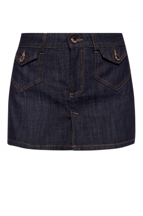 Denim shorts with skirt od Valentino Red