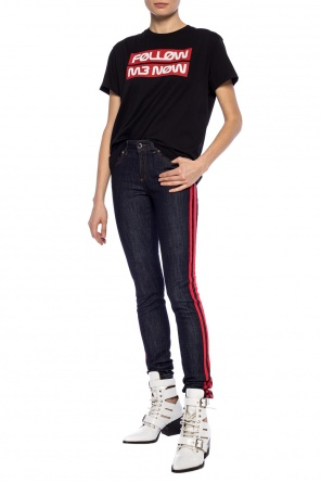 Side-stripe jeans od Valentino Red