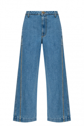 High-waisted jeans od Lanvin