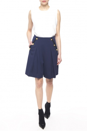 Pleated shorts with buttons od Lanvin