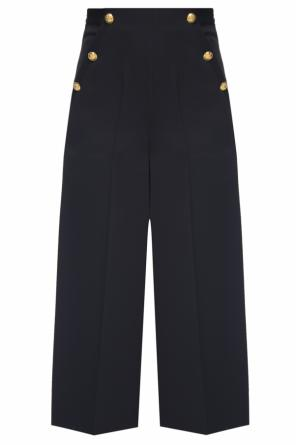 Pleat-front trousers with wide legs od Lanvin