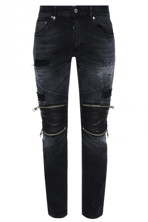 Biker jeans with holes od Just Cavalli