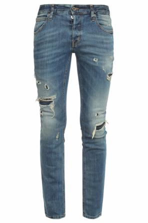 Distressed skinny jeans od Just Cavalli