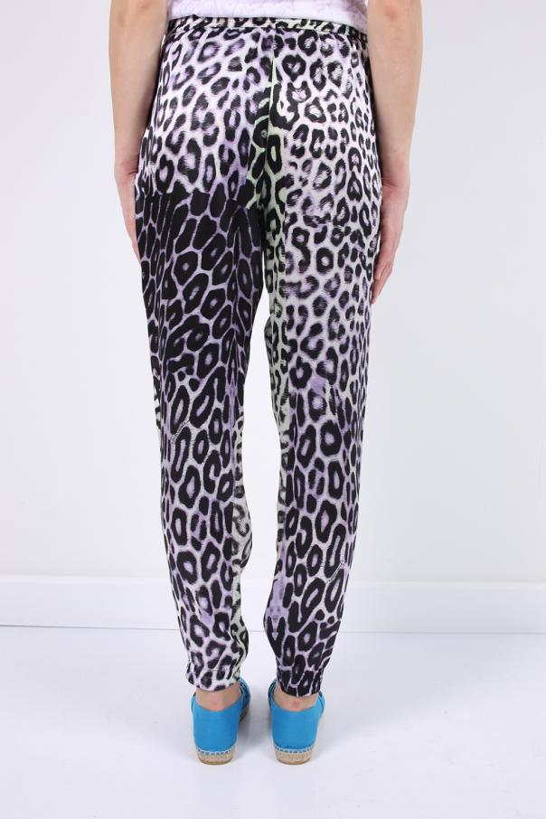 054610222c63 Leopard print silk trousers Just Cavalli - Vitkac shop online