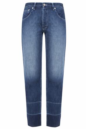 Jeans with frayed cuffs od Loewe