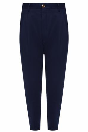 Ribbed pleat-front trousers od Vivienne Westwood