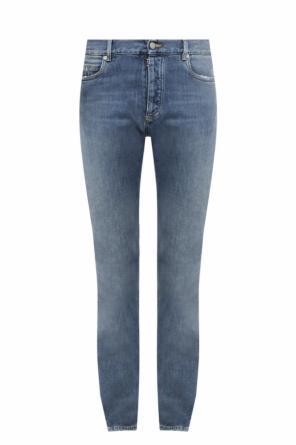 Jeans with sheer insert od Maison Margiela