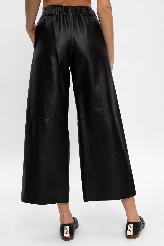 Loewe Wide-legged leather trousers