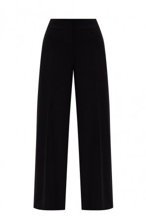 羊毛质褶皱饰长裤 od Loewe