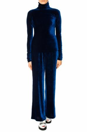 Velvet-like trousers od MM6 Maison Margiela