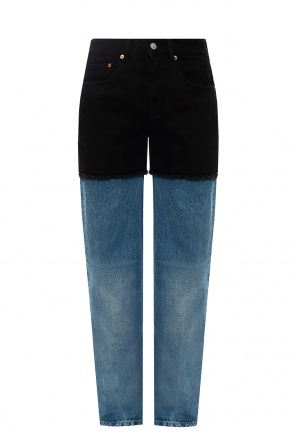 磨损效果牛仔裤 od MM6 Maison Margiela