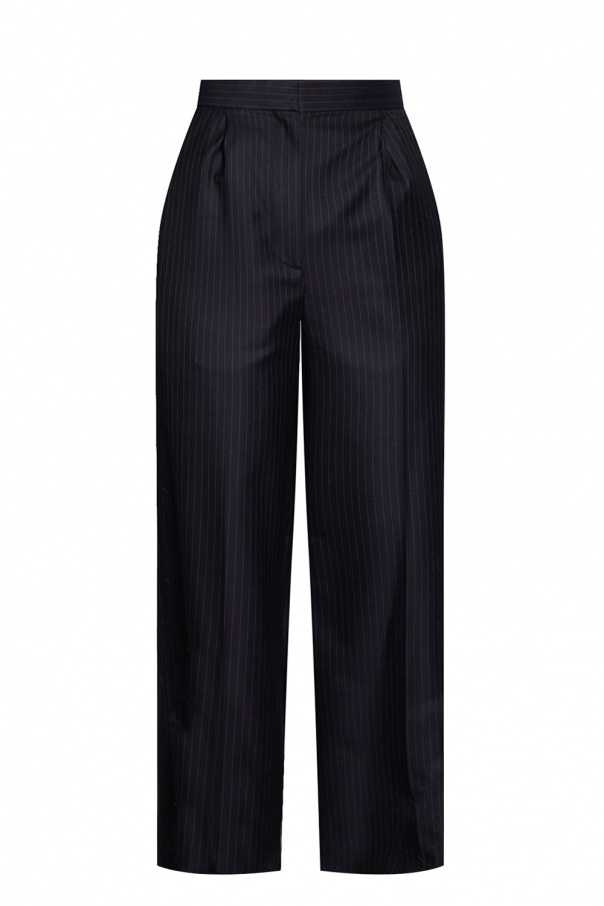 Loewe Striped pleat-front trousers