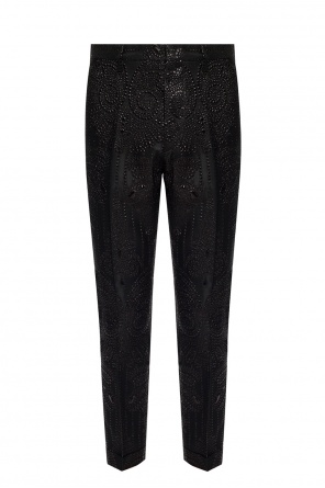 Jacquard trousers with a crease od Dsquared2