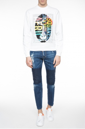 'city biker jean' jeans with holes od Dsquared2