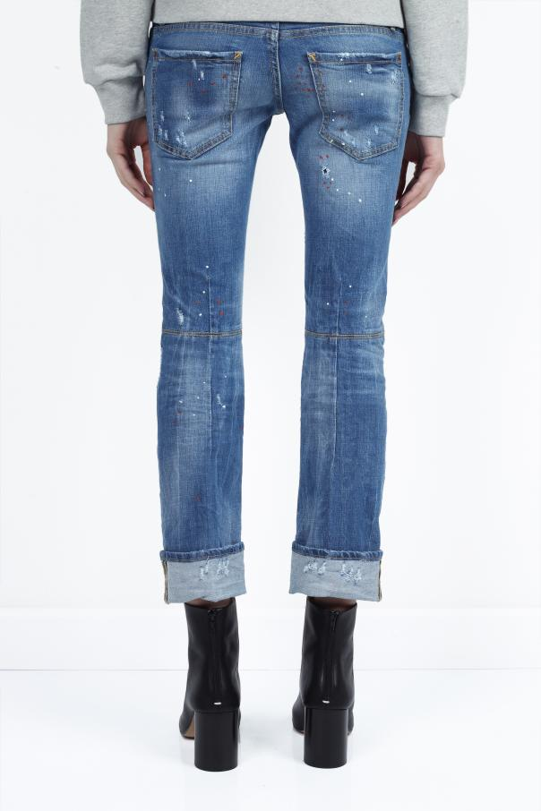 Jeansy 'sexy rolled up flare jean' od Dsquared2