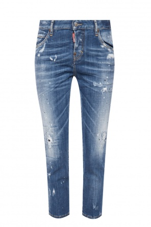 'cool girl cropped jean' stonewashed jeans od Dsquared2