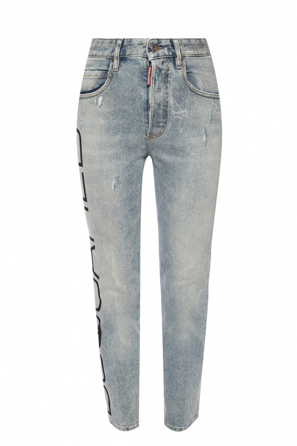 'tight cropped jean' distressed jeans od Dsquared2