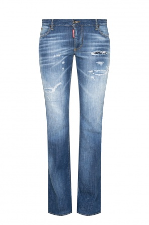 'medium waist flare jeans' raw-cut jeans od Dsquared2