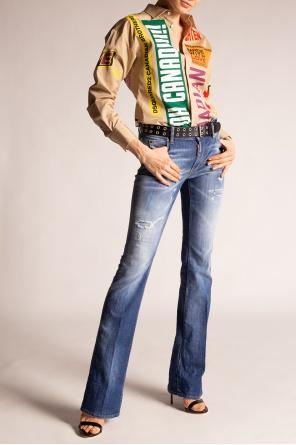 'medium waist flare jeans' raw-cut jeans od Dsquared2