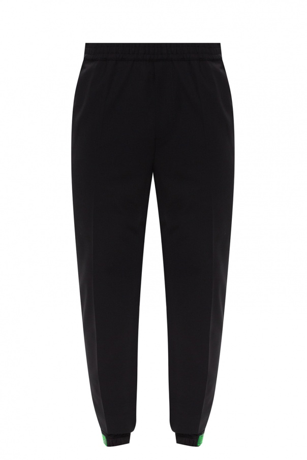 Dsquared2 Pleat-front trousers with logo