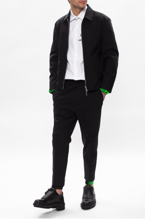 Pleat-front trousers with logo od Dsquared2