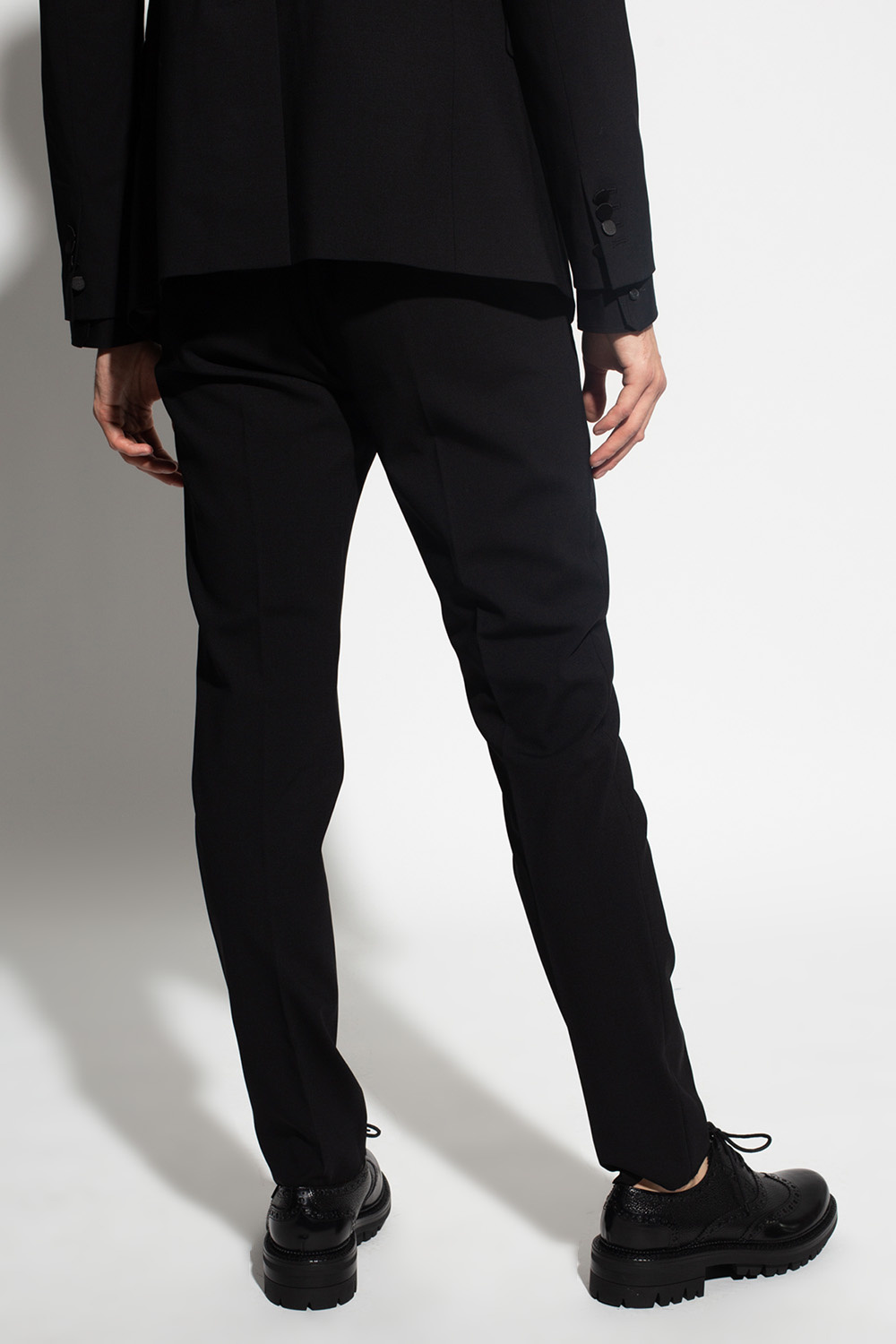Dsquared2 Wool pleat-front trousers