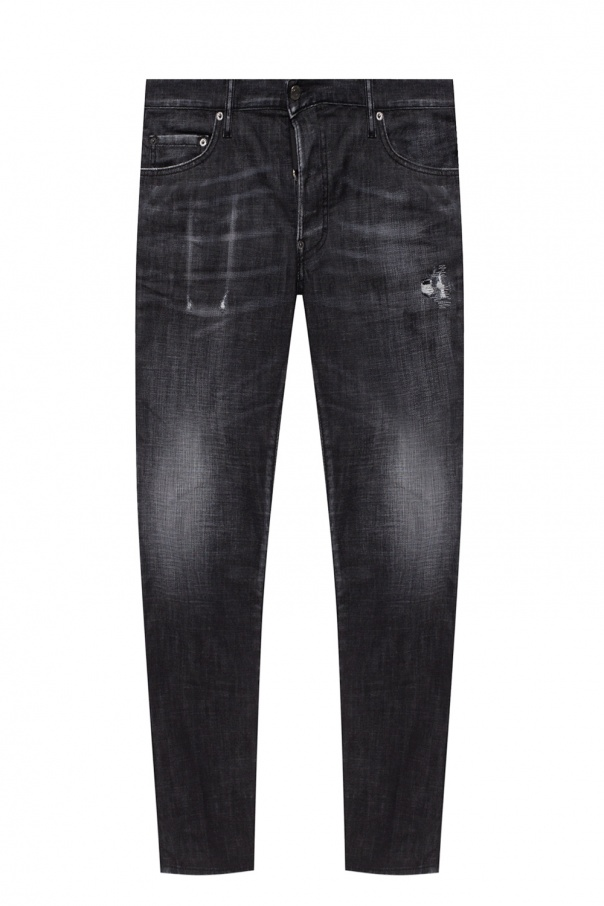 Dsquared2 'Skater Jean' raw edge jeans