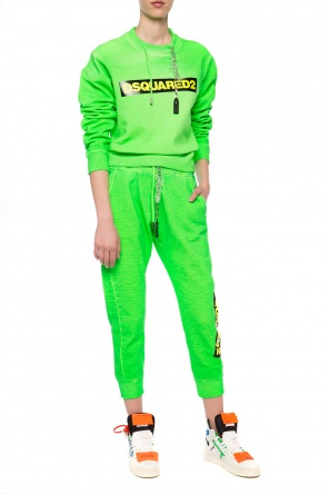 Sweatpants with metal embellishment od Dsquared2