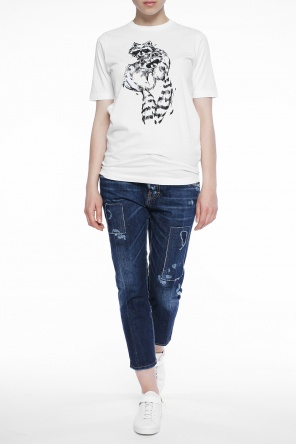 'cool girl cropped jean' jeans with holes od Dsquared2