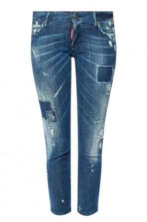'jennifer cropped jean' jeans with holes od Dsquared2