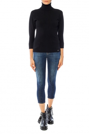'cool girl cropped jean' jeans with application od Dsquared2