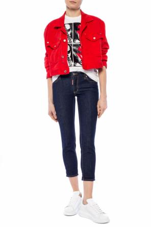 'cropped twiggy jean' branded jeans od Dsquared2