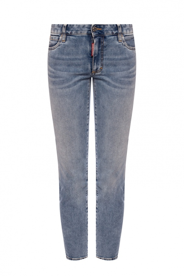 Dsquared2 'Cropped Twiggy Jean' distressed jeans