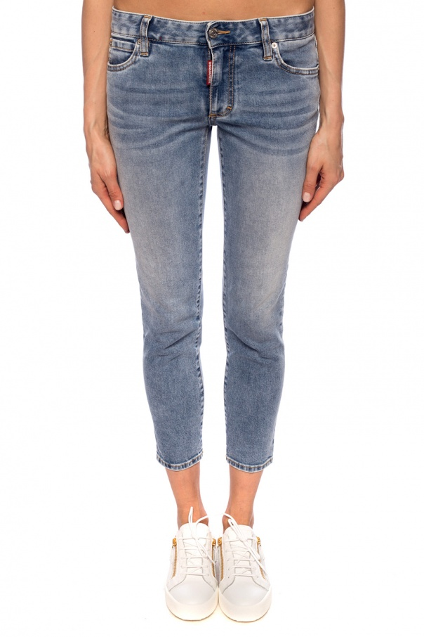 'cropped twiggy jean' distressed jeans od Dsquared2