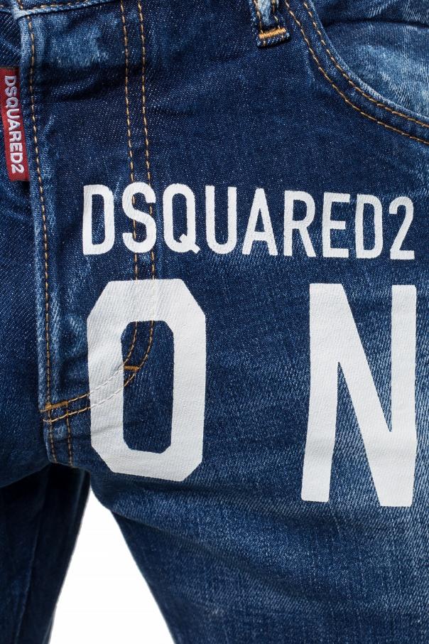 Dsquared2 Jeansy z przetarciami 'Skinny Dan Jean' dnw1jIcu