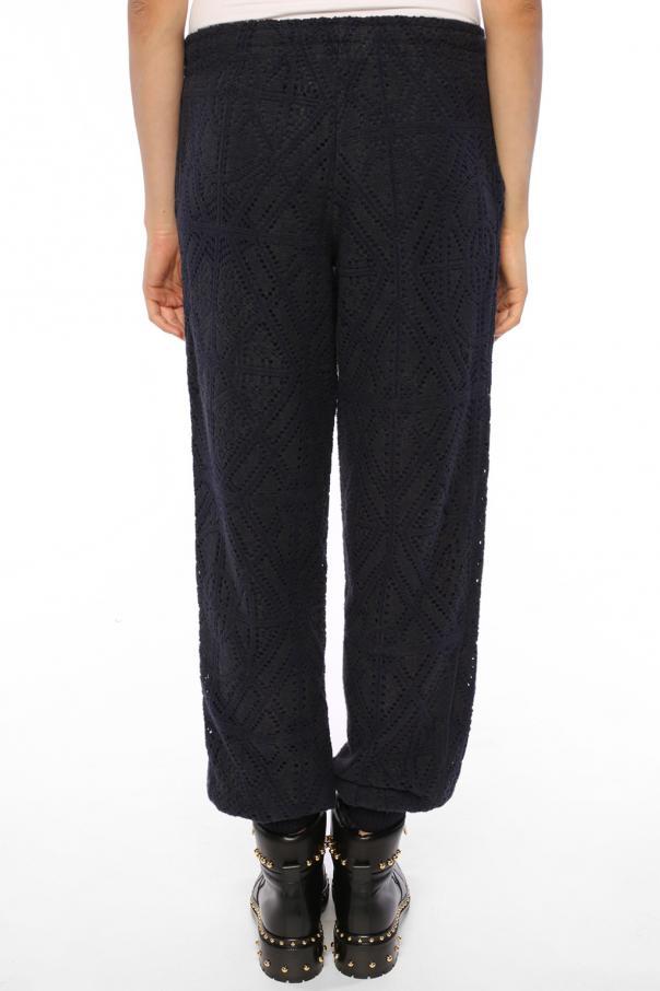 perforated sweatpants see by chloe vitkac shop online. Black Bedroom Furniture Sets. Home Design Ideas