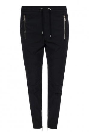 Narrow leg biker trousers od Balmain