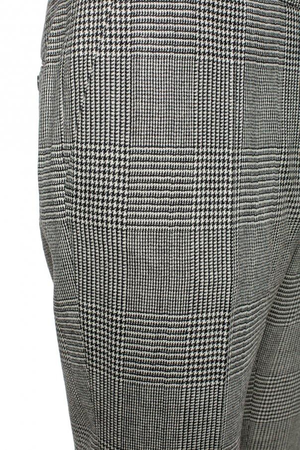 Checked creased trousers od Balmain