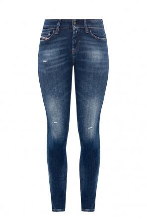 'slandy' jeans with raw edge od Diesel