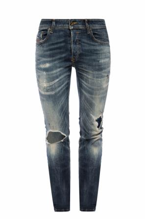 'sleenker' distressed jeans od Diesel